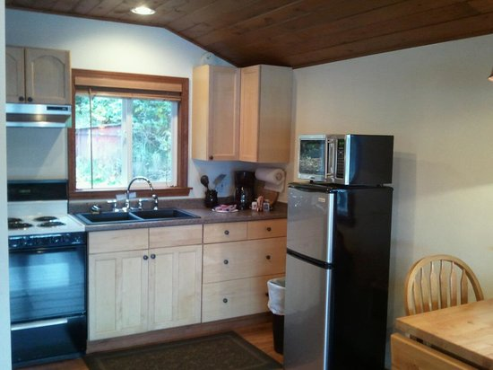 Snug Harbor Resort & Marina: Kitchenette in the Tree House at Snug Harbor Resort
