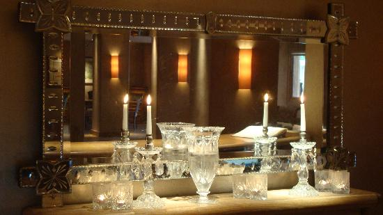 The Margi: Reception backround mirror with candles!