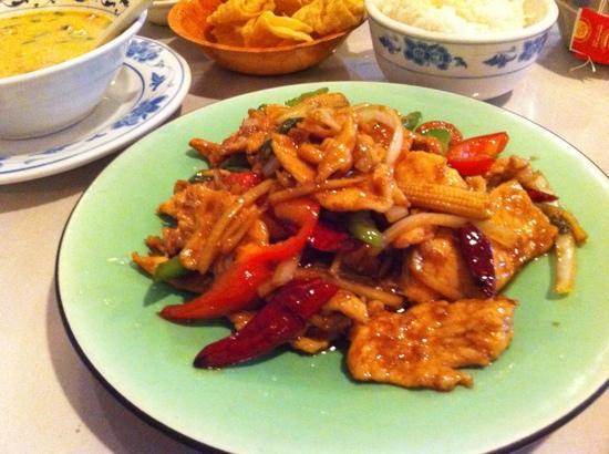 New Plum Tree Garden: Thai meal ( cashew chicken )