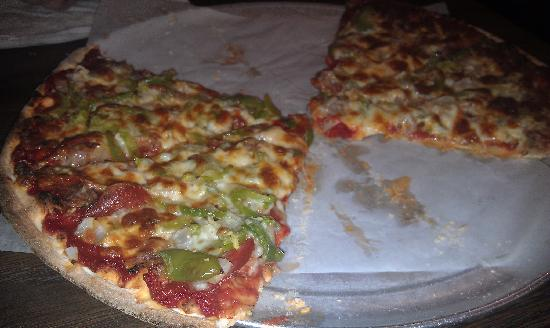 A & A Pagliai's Pizza: Palace special with my substitution...