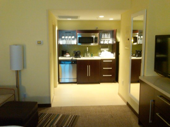 Home2 Suites by Hilton San Antonio Downtown - Riverwalk: Kitchenette area - well lit, very very nice
