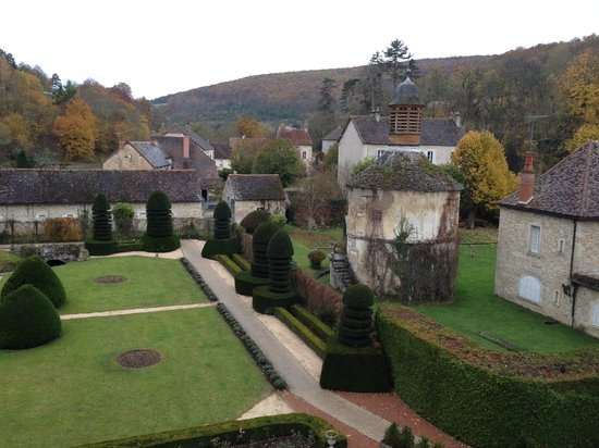 Abbaye de la Bussiere: View from our room