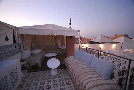 Hotel du Tresor: Roof tarace at night
