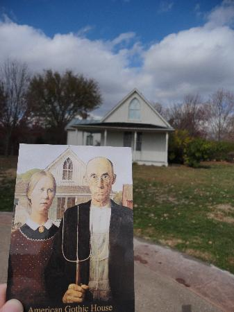 The American Gothic House And Painting