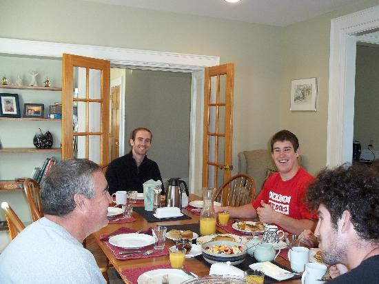 24 East Main Street Bed and Breakfast: A great breakfast with the fam