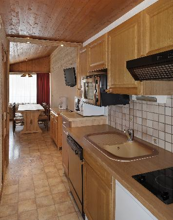 Le Panorama : coin cuisine appartement 6 personnes