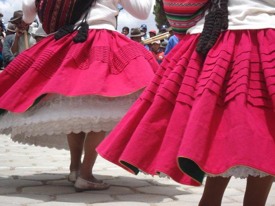 La Paz on Foot: Morenada Skirts, La Paz, Bolivia