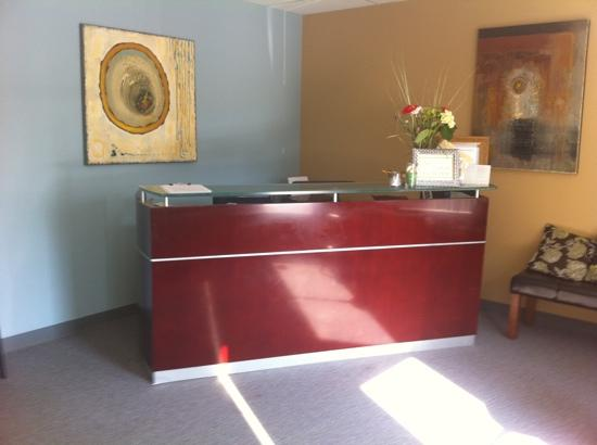 Evolve spa New Buffalo Reception area, a great harbor country day spa specializing in massage