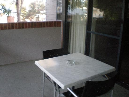 Darby Park Serviced Residences: outside table