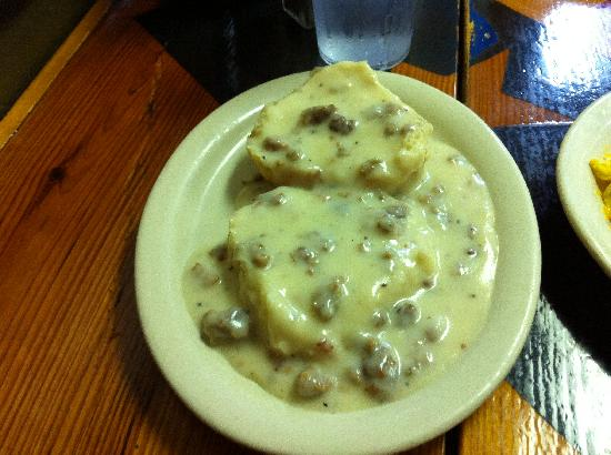 Old West Cafe : Biscuits and sausage gravy