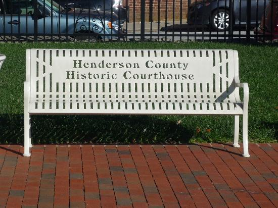 Henderson Heritage Museum: Henderson County Courthouse Bench