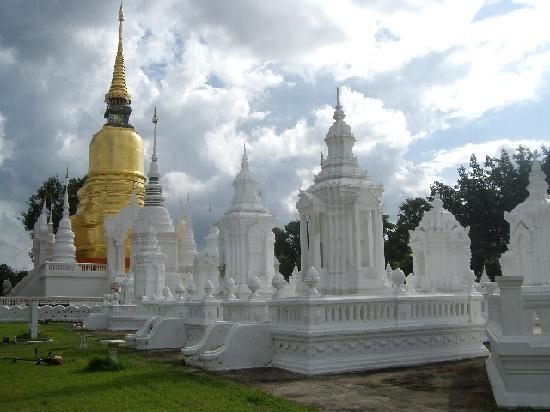 金と白の仏塔 - Picture of Wat Suan Dok, Chiang Mai - TripAdvisor