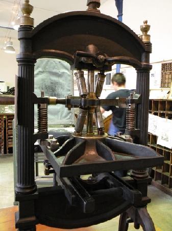 Ancienne presse d 39 imprimerie photo de musee de l 39 image pinal tr - Presse ancienne morbihan ...