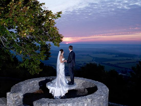 Hattonchatel Chateau : Sunset  wedding photos