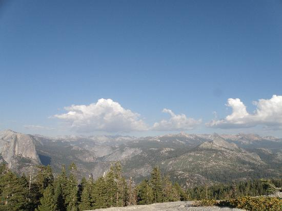 Panoramic View of the mountains from Sentinel Dome