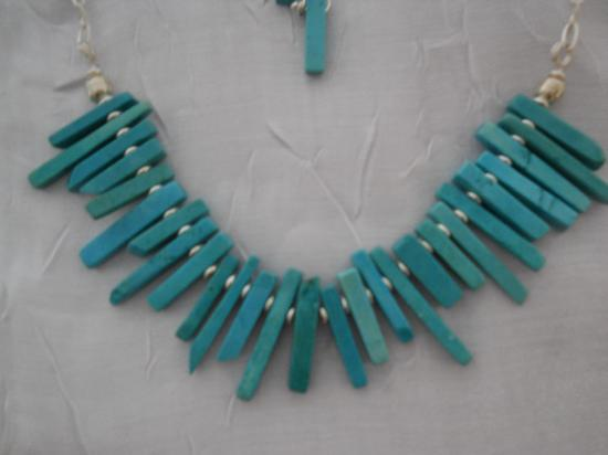 Reflections of Cabo: turquoise choker with sterling chain