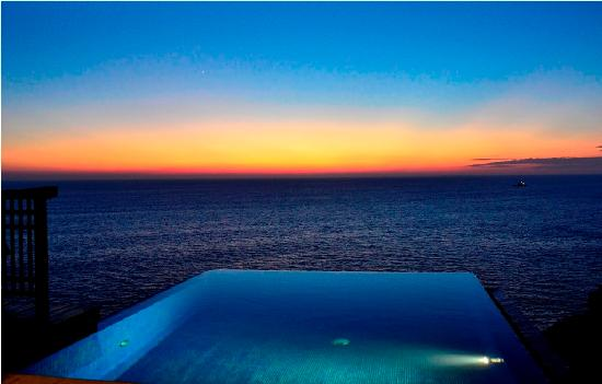 Banyan Tree Cabo Marques: Amazing sunset from the private pool