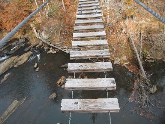 Historic Banning Mills: One of the many bridges! Fun!