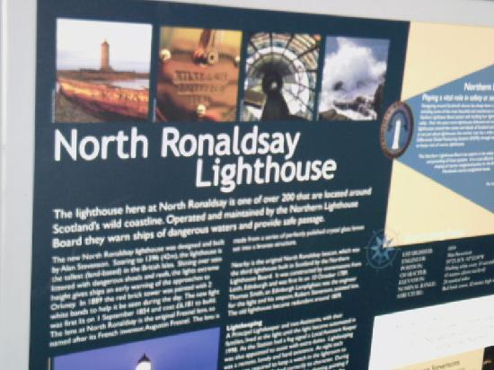 North Ronaldsay Lighthouse: Their Information Board
