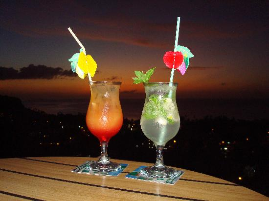The Champs, Hotel, Restaurant & Bar: drinks and sunset