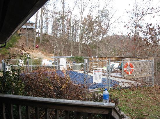 Backhome Log Cabins: Swimming pool area
