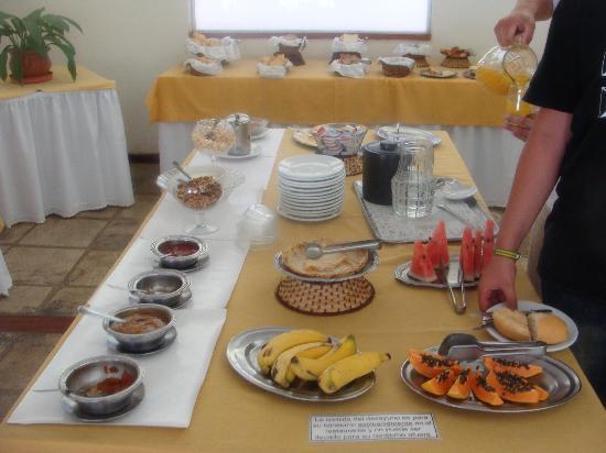 Hotel Mandragora: parte del desayuno