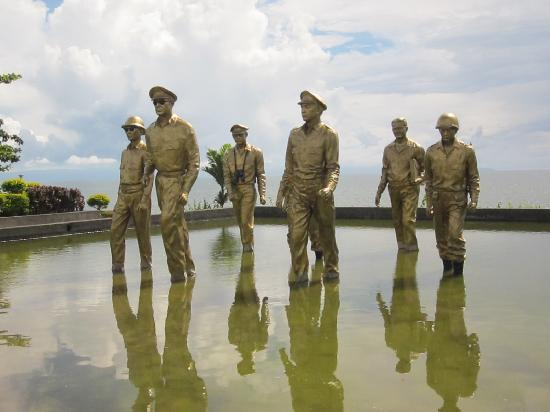Leyte Island, Filippinerna: the memorial