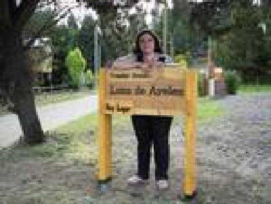 Cabanas Luna de Ayelen: Cartel con el nombre del complejo