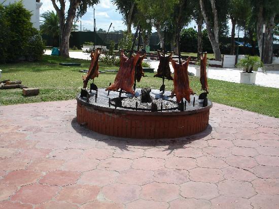 Los Pinos Resort & Spa Termal: asado del sabado al mediodia