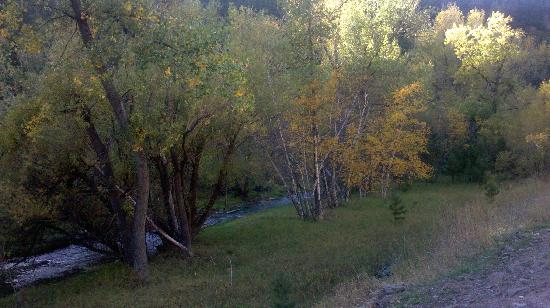 Deadwood Gulch Resort: Fall colors along the river