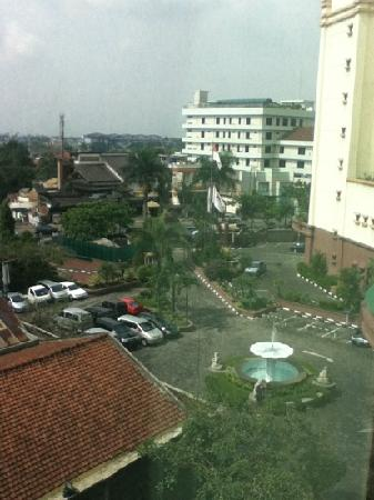 Grand Aquila Hotel Bandung: view from my room