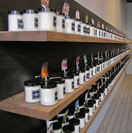 The Candle Lab: We have over 120 fragrances of freshly poured natural soy candles to choose from.
