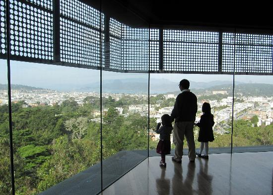 Observation deck atop the Hamon Tower of the de Young Museum