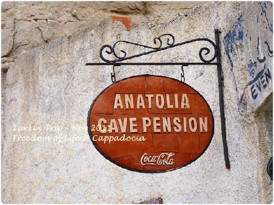 Anatolia Cave Pension: In front of hotel