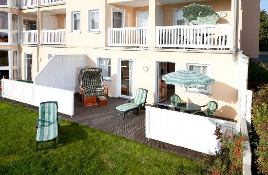 Rujana Ferienwohnungen: einige Wohnungen bieten einen Strandkorb auf dem Balkon oder direkt am Strand an
