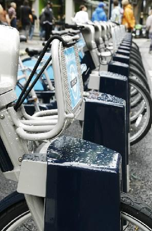 Londyn, UK: 'Boris Bikes'
