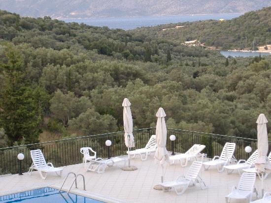 Hotel Meganissi: View from the pool.