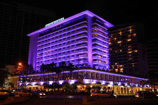 Phoenicia Hotel: Phoenicia Facade by Night