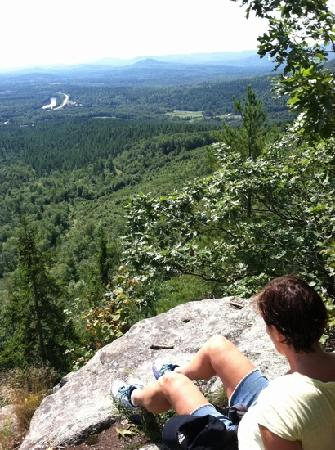 Grafton Notch State Park: top of eyebrow loop trail