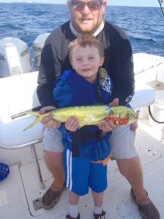 Boca Raton, FL: A Little Mahi for the 5 year old!  Released!