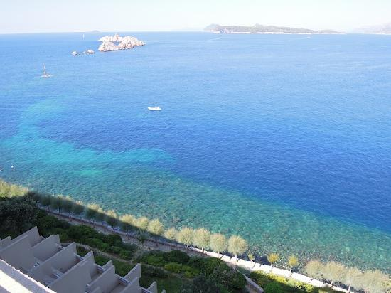 Hotel Dubrovnik Palace: 5th Floor view again, you can see how the rooms cascade down for privacy and great views!