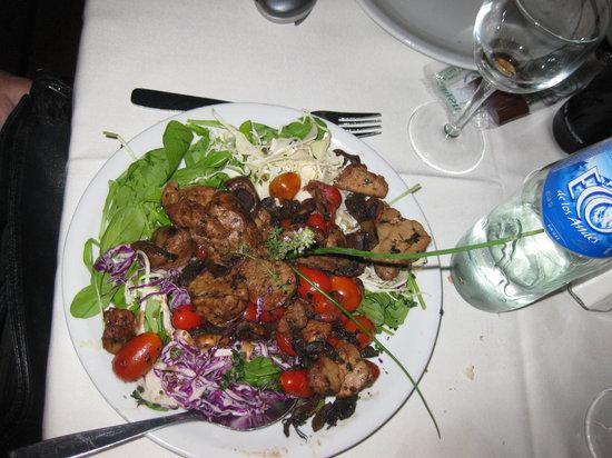 Don Ferro: warm sweetbrad and mushroom salad