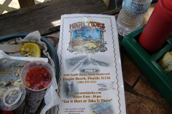High Tides at Snack Jack: I ate fish tacos...notice they are gone. :)