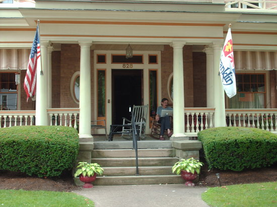 The Witherup House: Enjoying the Porch on Liberty Street.