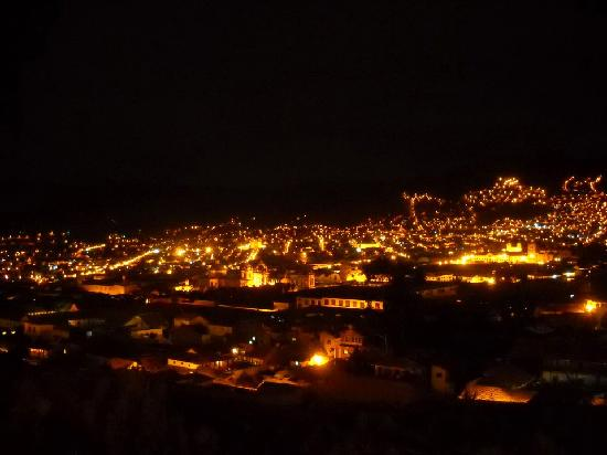 Encantada Casa Boutique Spa: View from the 4th floor at night