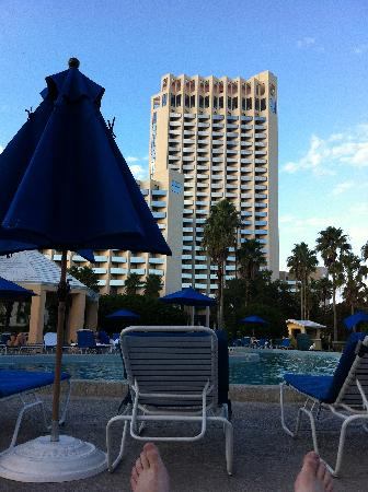 Hilton Orlando Buena Vista Palace Disney Springs: tower from the pool