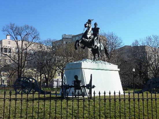 Lafayette Square: Jackson's Statue in the Square