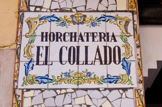 Horchateria El Collado : insegna del locale
