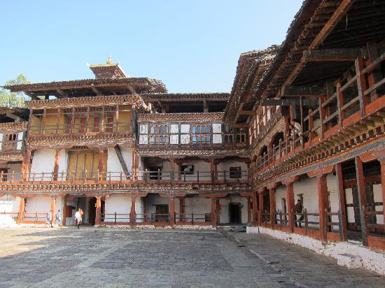 Ancient Courtyard Picture Of Wangdue Dzong Wangdue
