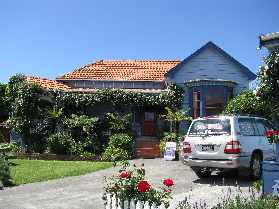 The Villa Backpackers Lodge: The main entrance